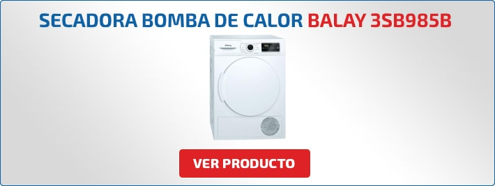 secadora bomba de calor balay 3sb985b