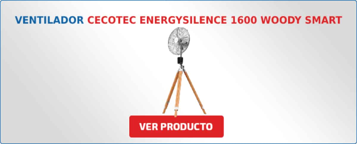 ventilador Cecotec EnergySilence 1600 Woody Smart 50